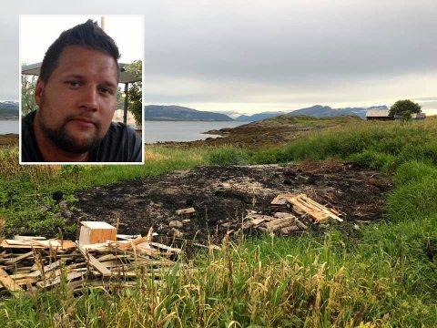 SØPPEL: Etter at Ole Kristian Bodøgaard nok en gang fant søppel på familiens eiendom, har han gått lei.