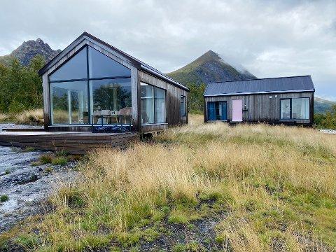 Bevaringslyst: – Vi tror at folk som oppholder seg i hytter som det vi bygger, vil få lyst til å ta vare på naturen, sier ekteparet Vaag om hytteprosjektet sitt i Steigen.