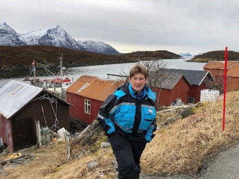 Arbeidslyst: Helga Karlsen måtte slutte som fisker, men er fortsatt full av arbeidslyst. – En hverdag uten arbeid er ingenting for meg, sier hun.