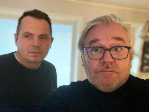 Fra venstre: Ap-politikerne Nils-Christian Steinbakk og Geir Olsen er mildt sagt kritiske til avgiftshoppet i Fauske. – Hokuspokus filiokus, så ble levekostnaden til de lavtlønnede økt med inntil 40.000 kroner. Det er kritikkverdig, sier Steinbakk. Foto: Privat
