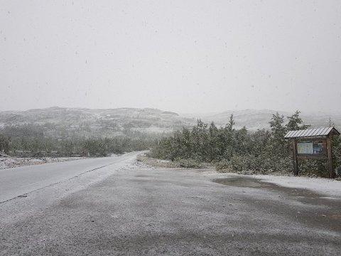 På Jakobsbakken i Sulitjelma var det snø i begynnelsen av september. Nå kommer det mer.