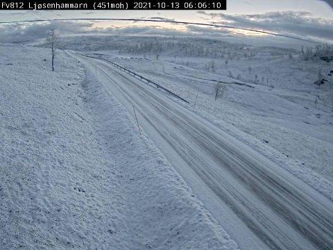 På Ljøsenhammarn i Misvær kunne du kanskje gått på ski.