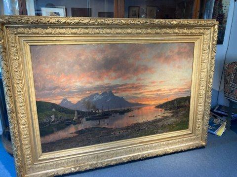 Stiftelsen Adelsteen Normann har nå brukt 250.000 kroner for å sikre seg dette maleriet.