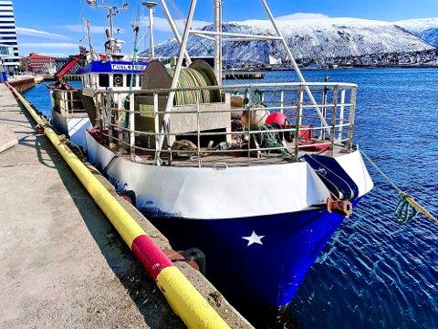 I TROMSØ: Fugløybuen kom mandag til kai i Tromsø. Der vil den ligge mens politiet gjør krimtekniske undersøkelser. Foto: Torgrim Rath Olsen