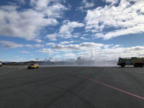 I april skjedde den første flygingen fra Bodø.