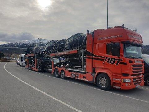 Har du sett dette vogntoget på veiene i dag?