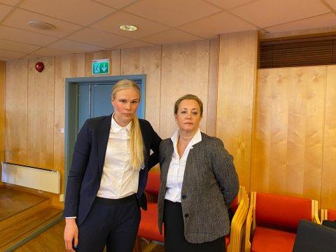 Siri Langseth (til venstre) og Unni Fries forsvarte mannen i 50-årene i tingretten.
