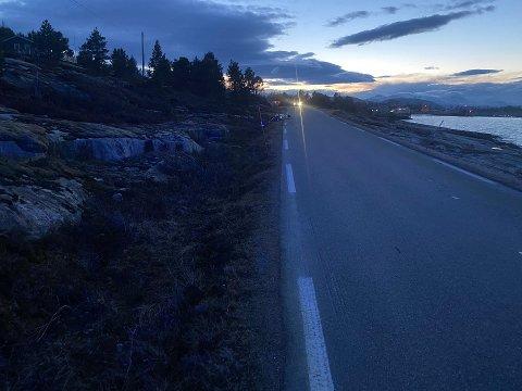 Ulykken skjedde ved Korsnes i Hamarøy. Foto: Politiet