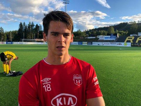 Spisstalentet Lasse Nordås skal være på vei til Bodø/Glimt. Her etter en tidligere kamp for Strømmen i fjor høst.