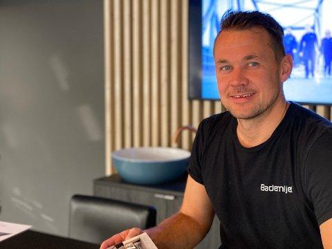 Daglig leder og rørleggermester Bård Lyng Olsen i Fauske Rør AS.