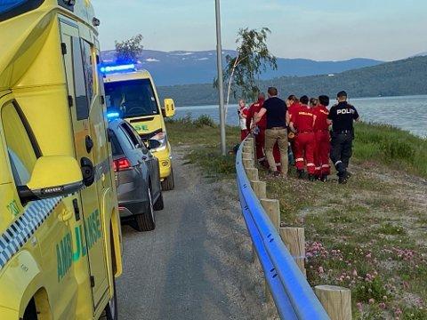 Nødetatene rykket ut med store styrker etter ulykken.