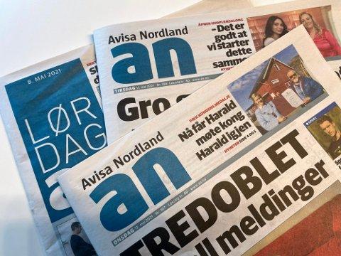 Årsregnskapet for 2020 viser et endelig årsresultat på 12,3 millioner kroner for Avisa Nordland AS.