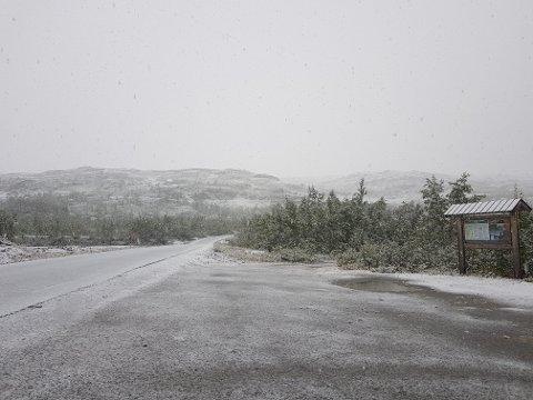 Jakobsbakken i Sulitjelma i retning mot taubanen.