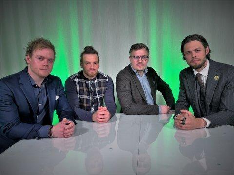 Christian Sørås Normann, Per Kåre Nyhagen, Daniel Henriksen Kjelstrup og Ivar Thoresen