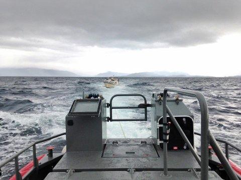 RS «Bjarne Kyrkjebø» er stasjonert i Bergen og disponeres av det frivillige sjøredningskorpset. Tidligere denne uken måtte mannskapet hjelpe folk i en snekke med motoproblemer i Bjørnefjorden.