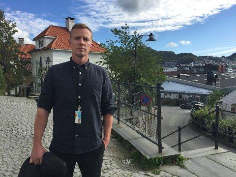 Olaf Gundersen, dagvaktsjef i TV2.