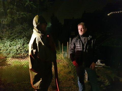 John Terje Furholm måtte finne frem pumpene da kjelleren hans ble fylt med vann fredag kveld.