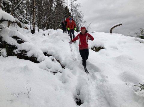 Litt snø stoppet ikke Fjellgeitene fra å ta sin siste tur opp Stoltzen for i år.