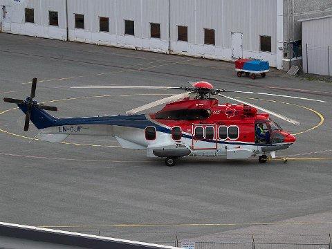 Dette er helikopteret som styrtet ved Turøy utenfor Bergen i april i fjor. Bildet er fra 2011. Foto: Kristoffer Rivedal / NTB scanpix