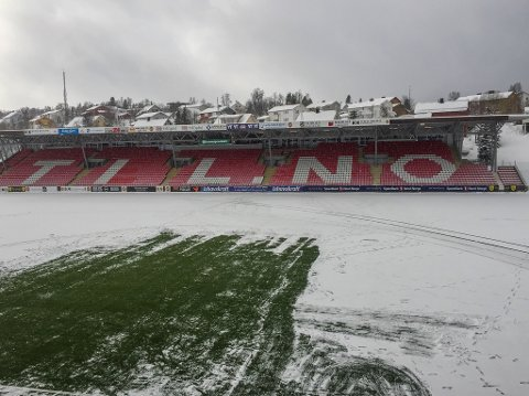 Slik så Alfheim Stadion i Tromsø ut i 1500-tiden tirsdag ettermiddag.
