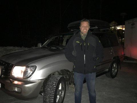 Håkon Nordvik er lettet over å ha kommet seg trygt over Haukeli tirsdag.