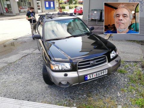Da Ludwig Aigner skulle hente bilen sin ved Haukelandshallen, var den borte. Nå vil han advare andre.