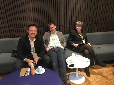 Dag Inge Ulstein, Sondre Olsen og Astrid Aarhus Byrknes på KrFs landsmøte fredag.