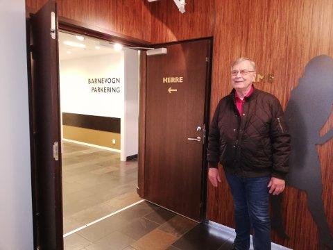 Arne Arnesen fikk seg litt av en overraskelse etter toalettbesøket på Galleriet.