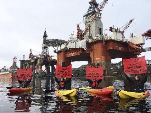 Demonstrantane blir oppfordra av Statoil til å aksjonere i trygge former.