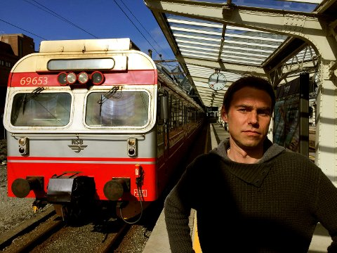 Pål O. Berrefjord blåser liv i Bergensbanen4Timer og går på nytt i striden for bedre jernbane. FOTO: SVEIN TORE HAVRE