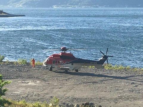 Det ble satt inn helikopter i søket.