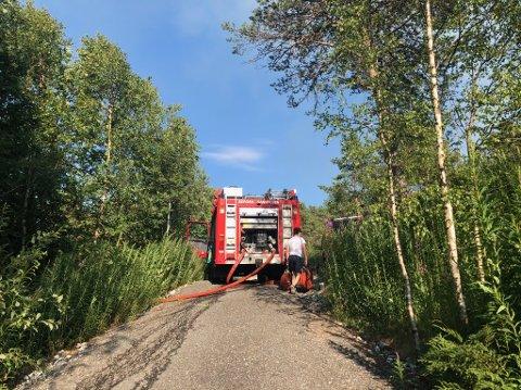Brannvesenet har rykket mannssterke ut til Gaupås.