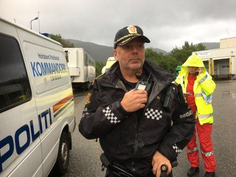 Innsatsleder Ivar Kvant i politiet.