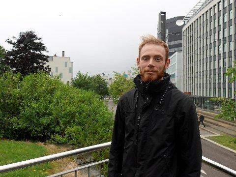 Sebastien Lenoir (24) fra Frankrike ble robbet i Bergen.