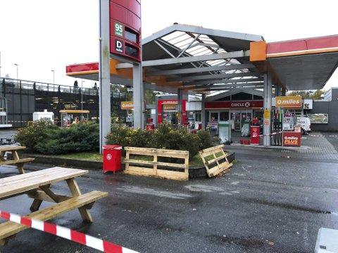 Circle K på Nesttun har vært stengt siden tirsdag ettermiddag. FOTO: LINDA NILSEN