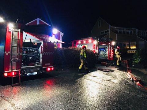 Leiligheten i Os ble påført store skader i brannen på nyttårsaften.