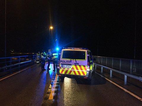 Politiet på Stordbrua etter trafikkulykken