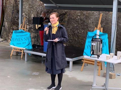 Linn Kristin Engø (Ap), byråd for barnehage, skole og idrett i Bergen kommune, holdt en tale under åpningen.