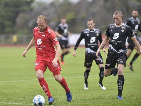 Henrik Kjelsrud Johansen og Brann slo Sogndal 3-2 i en treningskamp på Bømlo søndag.