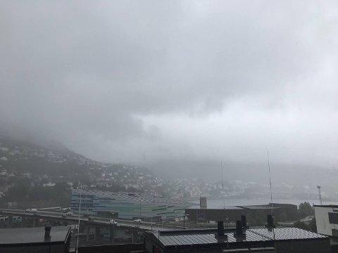 Det blir en grå sensommeruke i Bergen denne uken. (Arkiv)