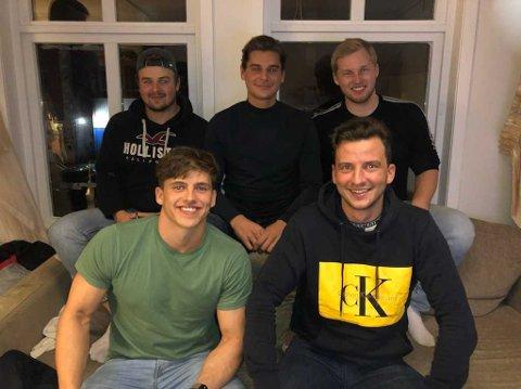 Petter Olson Hauge, Philip Åman, Daniel Brandshaug, Johann de Jonge og Didrik Wågsæther er blant de kjente guttene for de hockeyinteresserte i Bergen som spiller for Haugesund i helgen.