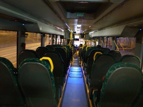 Bussane har hatt ein nedgang i talet på reisande.
