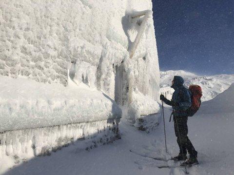 William Edland tar isveggen nærmere i øyesyn.
