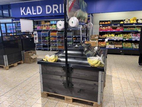 Tomt for bananer på Rema Fjøsanger.