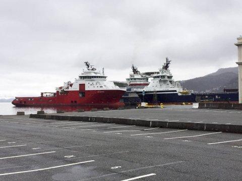 Alle skip i Bergen havn er oppfordret til å hedre sjøfolk klokken 12 1. mai. FOTO: SVEIN TORE HAVRE