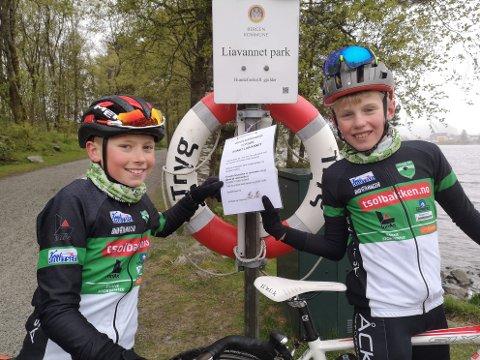 Kristian Haugetun (11) og Andreas Hannevik Fyhn (11) var ved godt mot da BA besøkte dem.
