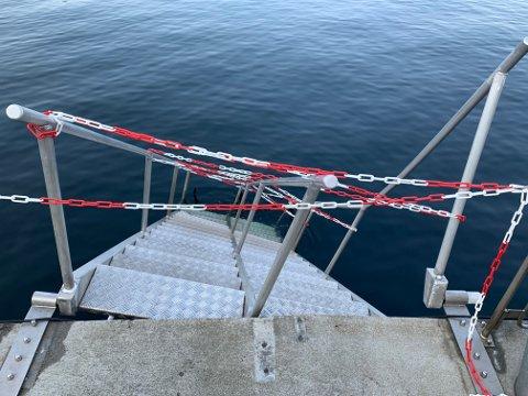 Trapp i ustand ved Nordnes Sjøbad.