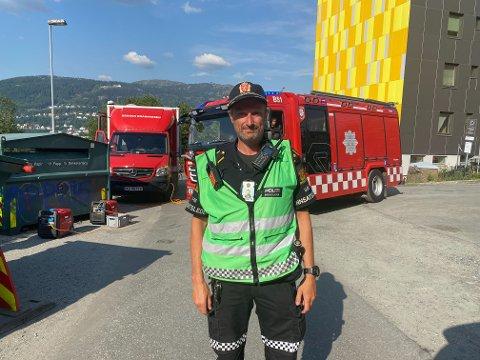 Christian Meyer, politiets innsatsleder på stedet.