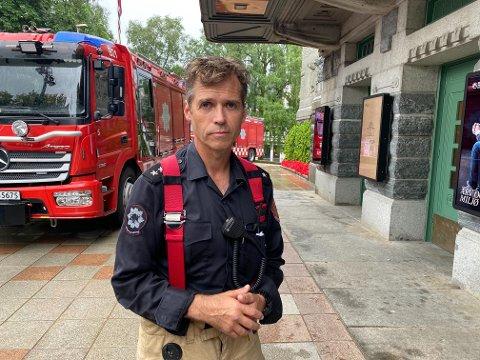 Torkel Åstveit, innsatsleder i Bergen brannvesen.