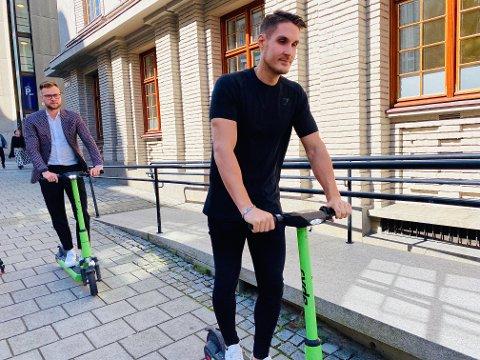 Espen Rønneberg og Johan Olofsson i Ryde Technology kan ifølge Bergen tingrett fortsette å leie ut el-løperhjul inntil videre.